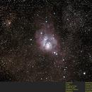 M8 - Lagoon Nebula,                                Dave