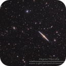 NGC4559 and NGC4565 Needle Galaxy in LRGB,                                Kayron Mercieca