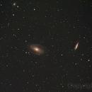 Bodes Galaxie M 81 und  M82,                                Altair