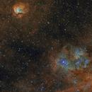 SH2-112 and 115 in H-SHO, APO 80x480  /  ATIK ONE  /  AZEQ6,                                Pulsar59