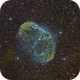 Crescent Nebula with Hubble Palette and RGB stars,                                KuriousGeorge