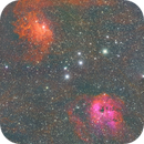 IC405 Flaming Star &  IC410 (faint) Tadpoles HSO Unguided,                                Seldom