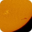 AR 12765 and a Filament on June 9, 2020,                                Chappel Astro