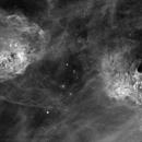 IC 405 ( IC 410 in Hydrogen-alpha emission light,                                  pete_xl