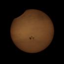 Partial solar eclipse,                                Shailesh Trivedi