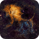 Sh2-132: Lion Nebula in SHO,                                Elvie1