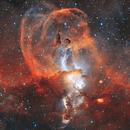 NGC 3576 (HOO) - The Princess Leia (Statue of Liberty) Nebula,                                Ben
