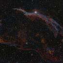 Western Veil Nebula in HSO,                                Nic Doebelin