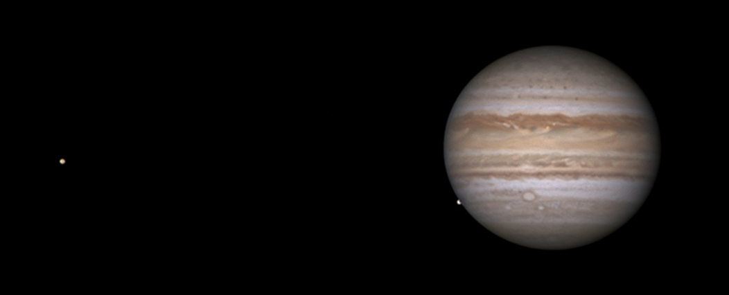 Jupiter with Io (and Europa emerging),                                Darren (DMach)
