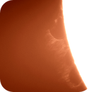 Large solar prominence,                                Andy Devey