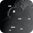 Moon shot with named craters,                                AstroHawk