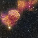 IC443, HA,Oiii, Synth Green,                                Lensman57