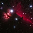 IC434 Horse Head Nebula and IC2024 Falame Nebula,                                astropjchiu