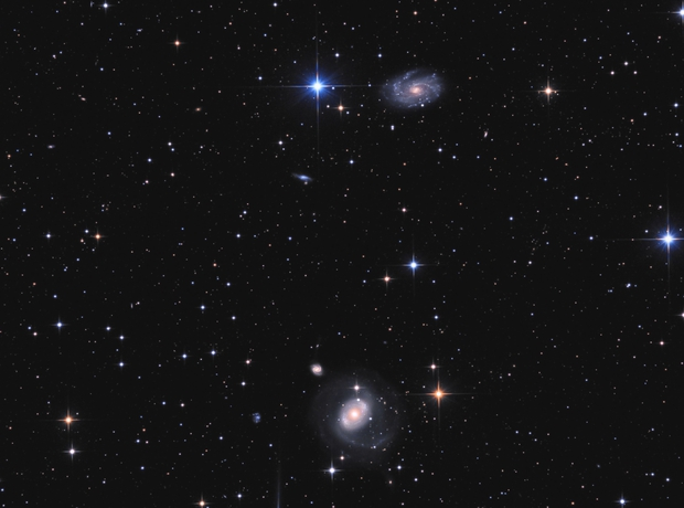 NGC 4151, NGC 4145 & NGC 4156,                                astrodani