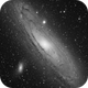 M31 Andromede galaxy in luminance,                                Jean-François Dou...