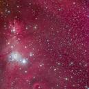 Christmas Tree Cluster / Cone Nebula/ HaLRGB / NGC 2264,                                Chris King