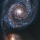 M51 Whirlpool Galaxy - Hubble Space Telescope,                                Andrei Gusan