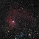 """IC405 the """"Flaming Star Nebula"""" December 21, 2019,                                Adam Drake"""
