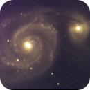 reprocessing old 2004 images - M51 with C8 and Starlight MX7C - unguided exposures V2 sharpening,                                Stefano Ciapetti