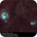 Lagoon Nebula (M8) and Trifid Nebula (M20),                                Newton Cesar Florencio