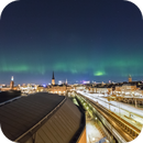 Northern Lights over Stockholm,                                Alessandro Merga