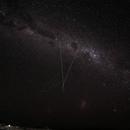 Milky way near Sossusvlei (Namibia)                             LMC & SMC only few degrees above horizon,                                Günther Dick