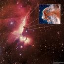 Horsehead Nebula NGC 2023 - Zoomed in using HST Infrared data,                                Satwant Kumar