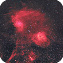 Flaming Star, Tadpoles and Spider Nebulae from Bortle 8,                                Carastro