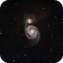M51 at native SV160 focus in LRGB,                                Rob Fink
