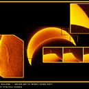 Partial Solar Eclipse - 20.03.2015 - H-Alpha composition,                                Łukasz Sujka