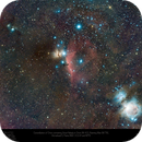 Orion 'The Hunter' and Friends - wide field Samyang 135mm,                                Paul Baker