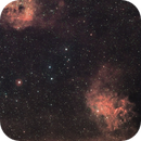 Flaming Star & Tadpoles Nebula (IC405 - IC410) Hα-RGB,                                Roberto Frassi