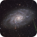M33 with a meteor,                                snakagawa