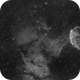 Jellyfish Nebula  IC 443 2-Panel-Mosaic H-Alpha,                                Mario Gromke
