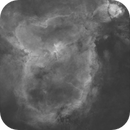 Heart Nebula Ha Stars and Starless Monochrome,                                Brandon Tackett