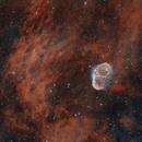 Crescent nebula bicolour,                                MartinF