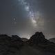 Milky Way, Mars and Eclipsed Moon,                                Dzmitry Kananovich