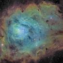 Lagoon Nebula (M8) - Narrowband,                                jlangston_astro