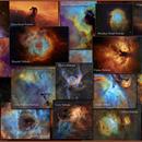 Emission Nebulae Collage, Narrowband, Hubble Palette,                                Eric Coles (coles44)
