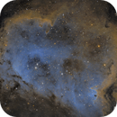 IC 1848 Soul Nebula in Hubble Blend (First NB!),                                Chris R White
