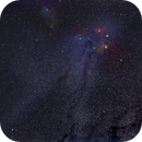 Rho Ophiuchi and Antares star field,                                astropleiades