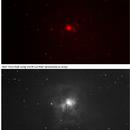 NGC 7023: Comparison of image field with QHY5III462C between broadband (UV/IR cut filter) vs. NIR (950 edge filter),                                Alan Brunelle