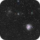 NGC 6946 and NGC 6939: Fireworks Galaxy and the Ghost Bush Cluster,                                Chris Sullivan