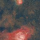 M8, M20 & M21 Lagoon & Trifid Nebulae,                                Angelillo