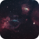 Sh2-157 (Lobster Claw) and NGC 7635 (Bubble),                                astronate