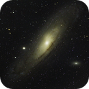 Messier 31 - quick first light with new scope,                                Johannes D. Clausen