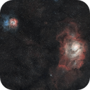 M8et M20 - Nébuleuse de la lagune et nébuleuse trifide,                                Vickraaz