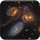 Stephan's Quintet – KG vs Hubble,                                KuriousGeorge