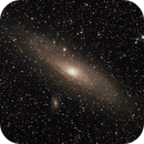 Messier M31 - NGC224 - Andromeda Galaxy with M110 and M32 satellite Galaxies,                                Geoff Scott