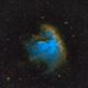 Pacman Nebula - NGC 281 in SHO,                                JohnAdastra